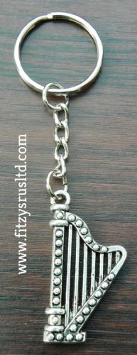 Harp Keyring Folk Celtic Musician Celt Metal Key Ring
